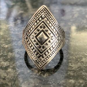 Large Silver Decorative Ring